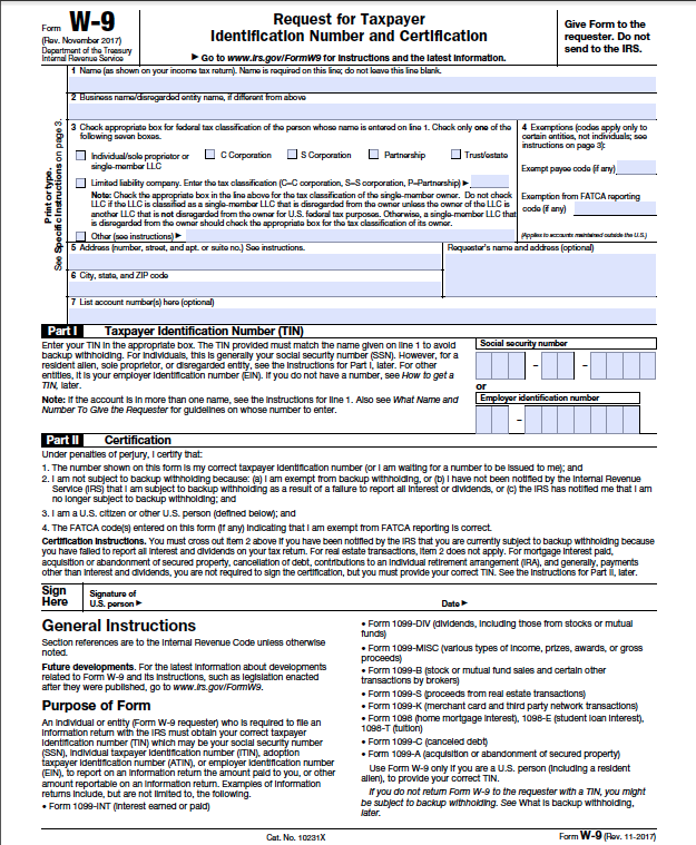 What Do Tax Exemption And W9 Forms Look Like?